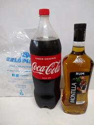 Montilla ouro + coca 2 l + gelo 1kg