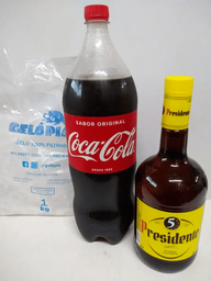 Presidente + coca 2 l + gelo 1kg