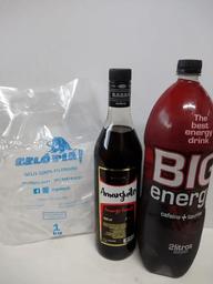 Amarguito + big energy 2l + gelo 1 kg