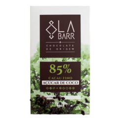 Chocolate 85% Cacau com Açúcar de Coco LaBarr Chocolate