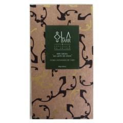 Chocolate 55% ao Leite de Coco com Castanha de Caju