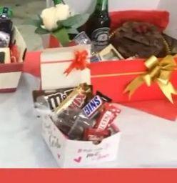 Caixa com Chocolates Namorados 1