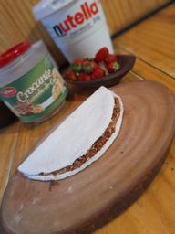Tapioca Nutella + Crocrante de Amendoim