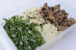 Carne Picada com Purê de Batata Doce