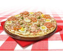 Promoção super pizza grande portuguesa