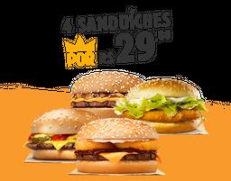 4 Sanduíches por R$ 29,80!