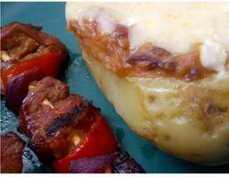 Filé mignon de porco ao Barbecue + Donna Batata recheada