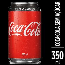 Coca cola sem açucar lata 350 ml