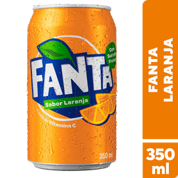 Lata fanta laranja 350 ml