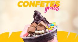 Copo Médio 300ml com confete de chocolate