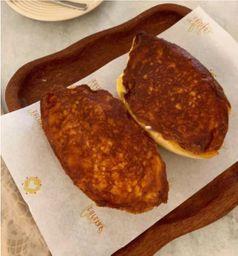 Pão na Chapa Crocante com Frango