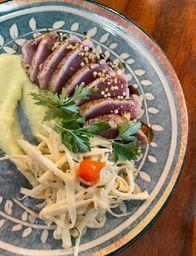 Atum Selado com Spaghetti de Pupunha
