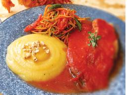 Tilápia Grelhado em Molho de Tomate