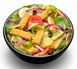Salada Frango Empanado