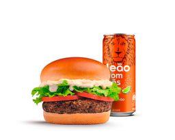 Tentador de carne + Chá com Gás