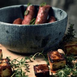 Fromage Et Saucissée de Porc Caramélisé