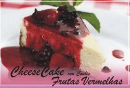 CheeseCake Com Coulis de Frutas Vermelhas (PEDAÇO)