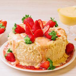 Torta Ninho de Morangos Frescos - 2kg