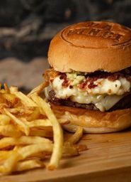 Burger + Fritas + Palha Italiana + Guaraná 350ml