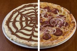 Pizza Salgada tradicional + Broto doce