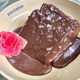 Fatia de bolo de chocolate, 80gr.