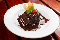 Brownie de Chocolate com Calda