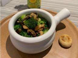 Brócolis com Cogumelos