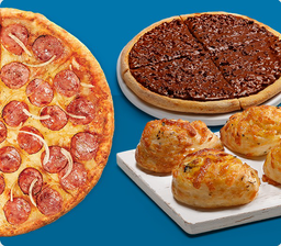 Combo Família Pizza Grande com Alho Roll e Ovomaltine  RAPPIGRA