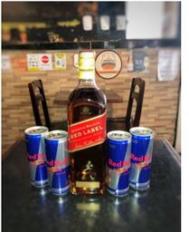 1 WHISKY RED LABEL 1L+4 RED BULLS 250ML