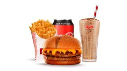 Trio Cheddar + Milk Shake 300ml Gratis