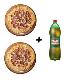2 Pizzas Calabresa + 1 Guaraná Antárctica 2 Litros