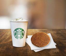15% OFF 1 Café Mocha Branco + 1 Caramelo StroopWafle
