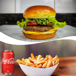 American Burger+ Batata Frita + Coca-Cola Original 350ml