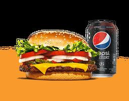 Atacante: Whopper de Plantas + Pepsi