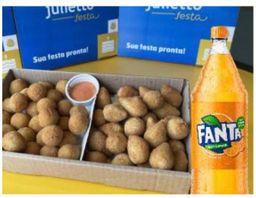 Kit 50 Salgados + Fanta pet 500 ml Gratis