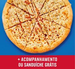 Pizza Grande frango com requeijão + sanduba ou entrada FRNRAPPI