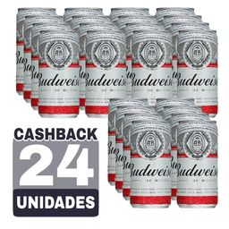 Combo Cerveja Pilsen Budweiser Lata 269 mL (24x)