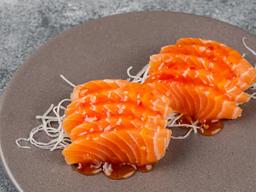 Sashimi de Salmão c/ Geleia de Pimenta