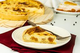 Quiche de queijo Brie e Damasco