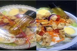 Salada Simples com Frango Salpicado -Pq