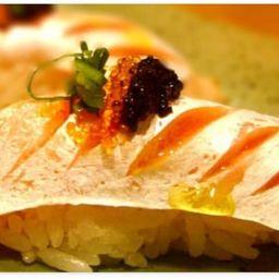 Dupla barriga de salmão trufada