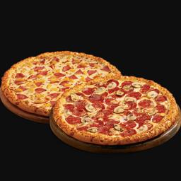1 pizza tradicional + 2º pizza 50% off
