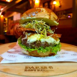 """Burger de Poulet Croquant au Gorgonzola à """"Simone e Simaria"""""""