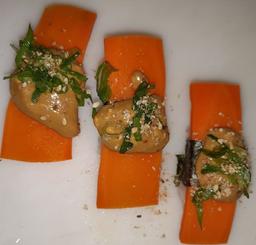 Sushi de Cenoura com Molho Especial