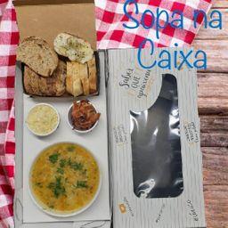 Sopa na caixa individual