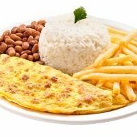 Omelete Misto (Presunto e Queijo)