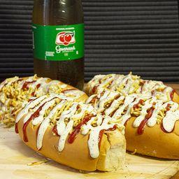 Combo 4 Hot Dogs + Refrigerante 1 Litro