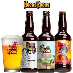 Kit Degustação Hocus Pocus com 3 Cervejas e 1 Caldereta