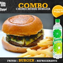 Combo Chimichurri Burger - Smash 65g + Bebida + Batata