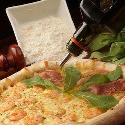 Pizza camarão com catupiry